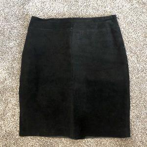 Express Black Knee-Length Skirt